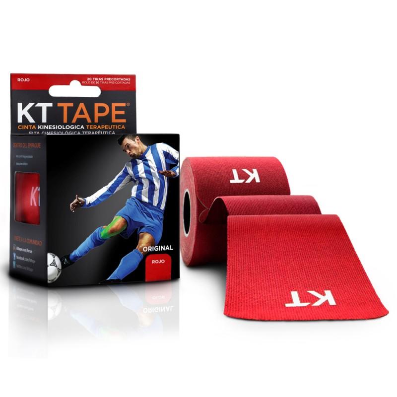 Kt Tape Pre Cortado de Algodón Rojo